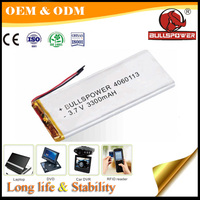 super thin li-ion battery 3.7V 3500mah lithium polymer battery for tablet pc