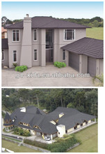 Decorative colored metal residential roofing