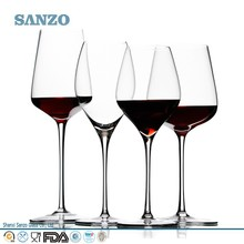 hand blown high quality bulk lead free crystal clear wine glass