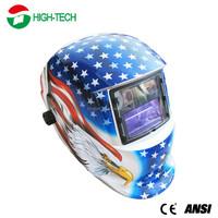CE ANSI Blue Hawk DIN9-13 ARC Grinding Solar Powered Auto Darkening Welding Helmet