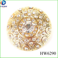 HW6290 circle rhinestone removable clips shoes accessories metal crystal shoes buckle