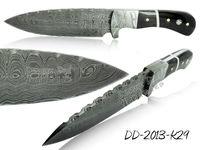 Damascus Steel Knife DD-2013-K29 Buffalo Horn Handle