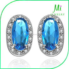 Wholesale Jewelry High-grade Sapphire Earrings Temperament Ladies Accessories