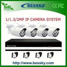 4CH High Resolution 1080 Full hd cctv set 4 camera