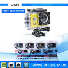 1.5 inch waterproof camera full hd 1080p sport camera sj4000 extreme sports action video camera equipped with 2MP/5MP/8MP/12MP