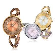 Newest 2015 Luxury polished silver tones jewelry watch for lady