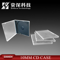 10.4Mm Black Tray Double Ps Jewel Cd Case