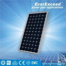 EverExceed 320w 156*156 Monocrystalline Solar Panel with TUV/VDE/CE/IEC Certificates