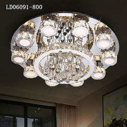 Two color with remote control luster de cristal
