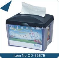 Plastic Facial tissue dispenser for restaurant CD-8387B