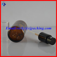 dark brown glass bottles with droppers for e-liquids
