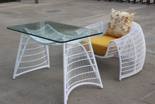 Leisure rattan coffee table and chair wicker furniture