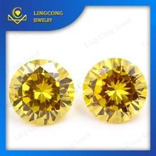 gemstone manufacturer lab created golden yellow zircon