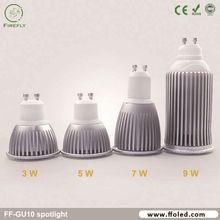 High CRI 50W halogen replacement gu10 9w led spot for spot light