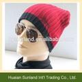 Ribber w-709 personalizado de la mano de lana de punto sombrero para los hombres de moda gorro de punto