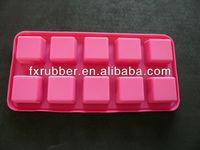 2015 Food Grade Novelty silicone Custom Ice Cube Tray Wholesale