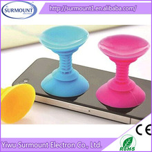 Wholesale Colorful Silicone Suction Cup Funny Cell Phone Holder For Desk