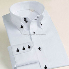 brand buttons down collar shirt white combed cotton dongguan shirt supplier