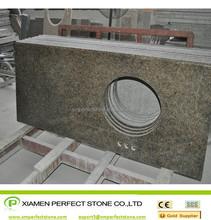 Tropic Brown Granite Vanity Top Golden Diamond granite kitchen countertops
