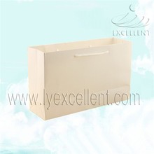 wholesale black/brown/white kraft shopping paper bag with rope handle