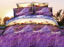2015 lavander purple Latest design discount full fitted tie dye cotton printed bedspread turkey
