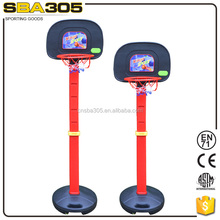 mini portable and adjustable basketball board and stand for kids design with basketball