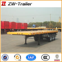 Tri axle 40ft container flatbed truck trailers for loading container
