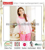 2015 Hot sale n cotton lovely pretty girls pajamas for girls