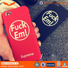 Hard plastic cases rubber oil surface for iphone 6 made in shenzhen