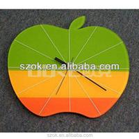 Custom made apple shaped acrylic wall clock