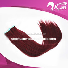 Fusion tape virgin hair extension,adhesive tape for hair extensions