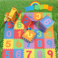 10pcs Baby Children Kid Soft Foam Numbers Puzzle Jigsaw Play Mat With Number (0-9)