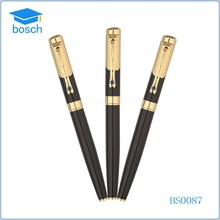 2015 stationery free sample gold black square ball pen