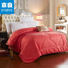 Cheap price guangzhou manufactory red color wool down fleece woolen quilt