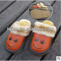 W50622Q 2015 Children autumn and winter slippers cute baby boys and girls children warm cotton slippers