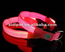illuminated LED flashing puppy dog collar