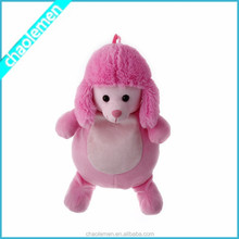 Wholesale Lovely Kids short soft Pink dog plush school bags lowest price