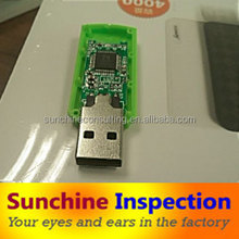 USB Flash drive quality inspection/quality check before loading/business verification services