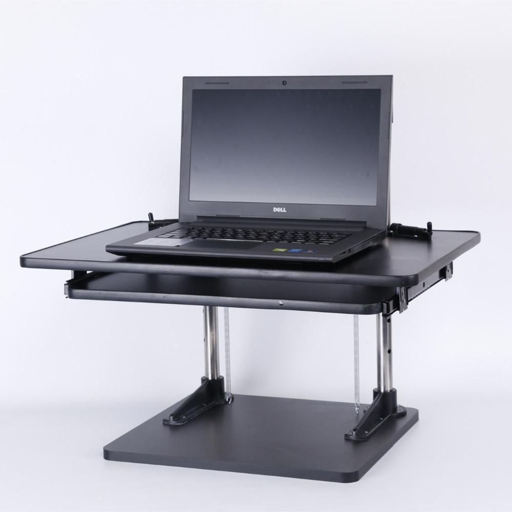 bois bureau permanent cran d 39 ordinateur debout poste de travail s 39 asseoir pour imac et macbook. Black Bedroom Furniture Sets. Home Design Ideas