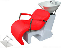 multifunctional salon furniture; elegant wihte fiberglass barber chair OEM