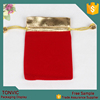 New Red Velvet Gold Color Top Gift Bag Jewelry Pouch
