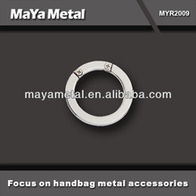 Hot selling high quality metal zinc alloy O ring for bags MYR2009
