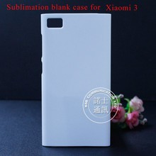 Good quality custom blank sublimation cell phone back case for xiaomi 3