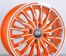 2015 NEW design Alloy Wheel Rim, Orange machine face car rims wheel 4x100