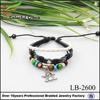 Fashioin genuine leather bracelet with charm adjustable wire bangle bracelet wholesale