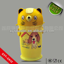 Printed cute cat and dog logo kid water bottle
