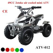 2015 unique 2 stroke 49cc mini atv quad 50cc with easy pull start