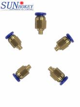 2015 accesorios de la impresora 3d neumática conector for 3d de alimentación de la impresora tubería extrusora rápido conectar socket