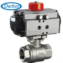 Accord with ISO5211 standard pneumatic 2 stainless steel ball valve