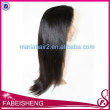 Natural color silky straight brazilian human hair toupee for black women